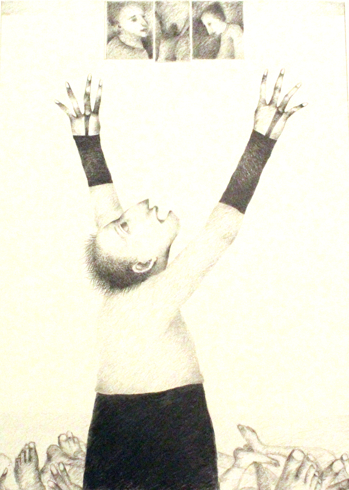 man with outstretched arms the mahler fine art